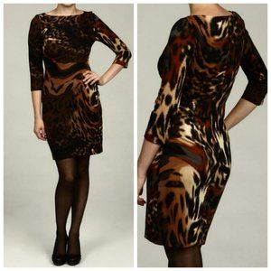 JESSICA SIMPSON Animal Print Sheath Dress